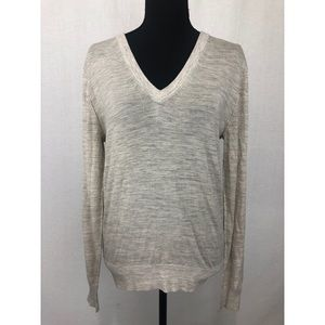 ZADIG & VOLTAIRE Distressed V-Neck Wool Sweater